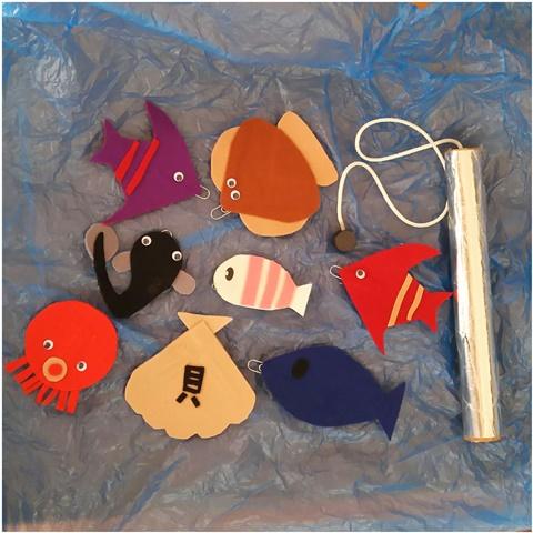 手作り 魚釣り 知育玩具